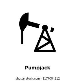 Pumpjack icon vector isolated on white background, logo concept of Pumpjack sign on transparent background, filled black symbol