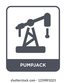 pumpjack icon vector on white background, pumpjack trendy filled icons from Industry collection, pumpjack simple element illustration