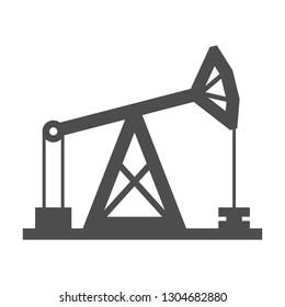 Pumpjack. Oil pumping rig. Vector.