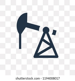 Pumpjack vector icon isolated on transparent background, Pumpjack transparency concept can be used web and mobile