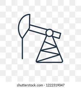 Pumpjack vector outline icon isolated on transparent background, high quality linear Pumpjack transparency concept can be used web and mobile