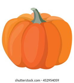 pumpkin - a big beautiful vegetable, the symbol of Halloween and Thanksgiving