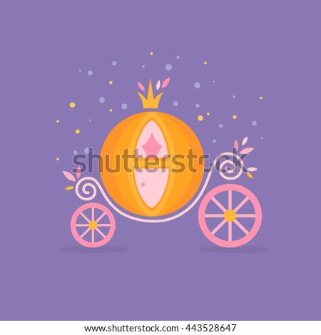 Pumpkin carriage for Cinderella