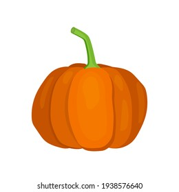 Pumpkin colorful icon on white background. Vector illustration
