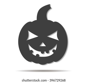 pumpkin double shadow icon vector