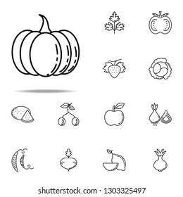 pumpkin dusk style icon. Vegetables icons universal set for web and mobile