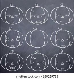 pumpkin emotion-angry-chalk board