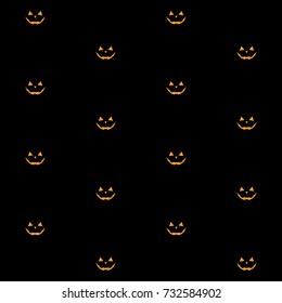 Pumpkin face, Jack o lantern Seamless Pattern for Halloween Background