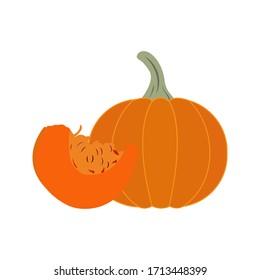 pumpkin food vector icon design illustration