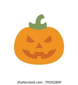 Pumpkin halloween flat icon