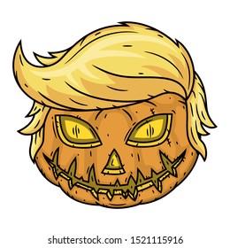 Pumpkin. Halloween pumpkin isolated on white background
