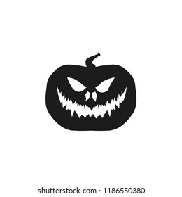 pumpkin halloween silhouette. Element of halloween illustration. Premium quality graphic design icon. Signs and symbols collection icon for websites, web design, mobile app