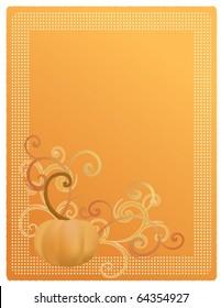 Pumpkin Harvest Illustration for Invitation, Announcement, or Menu. EPS10