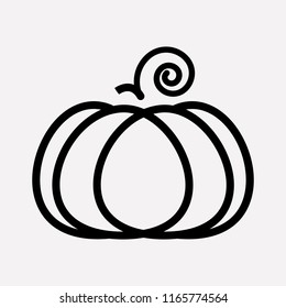 Pumpkin icon line element. Vector illustration of pumpkin icon line isolated on clean background for your web mobile app logo design.