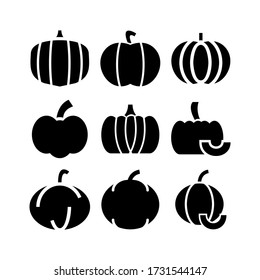 pumpkin  icon or logo isolated sign symbol vector illustration - Collection of high quality black style vector icons