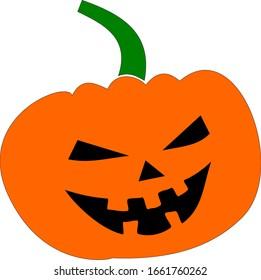 Pumpkin Icon Symbol Vector Illustration Halloween Holiday