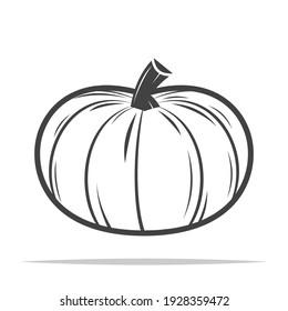 Pumpkin icon vector isolated design