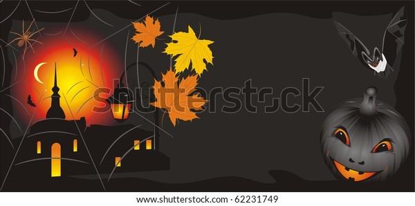 pumpkin-maple-leaves-bat-halloween-600w-