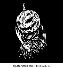 Pumpkin Scary Vector art