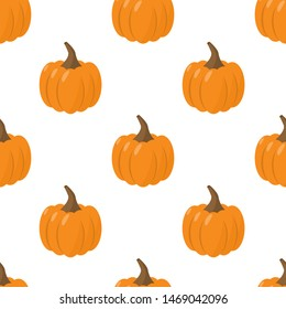 pumpkin seamless pattern. Bright illustration for fabric and wallpaper design.