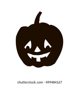 Pumpkin silhouette icon of the day halloween