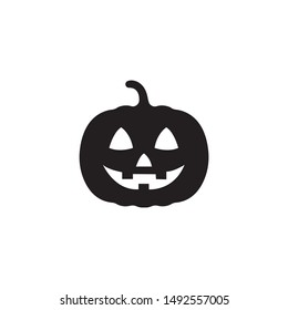 Pumpkin silhouette icon on a white background