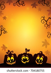 Pumpkin silhouettes theme image 8 - eps10 vector illustration.