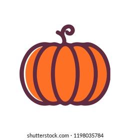 Pumpkin vector icon