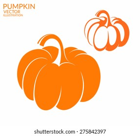 Pumpkin. Vector illustration EPS10. Isolated pumpkins on white background