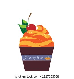 Pumpking cake. Thanksgiving food. Happy thanksgiving day