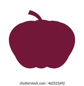 pumpking vegetable health icon vector illustration design