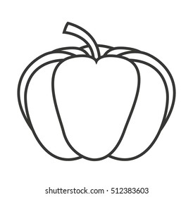 pumpking vegetable isolated icon vector illustration design