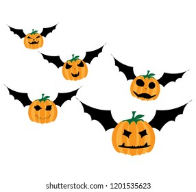 The pumpkins for halloween decoration