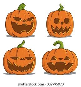 pumpkins for Halloween. Vector.