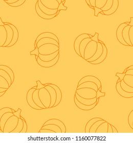 Pumpkins seamless pattern.