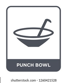punch bowl icon vector on white background., punch bowl simple element illustration