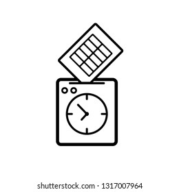 Punch clock icon. Clipart image isolated on white background