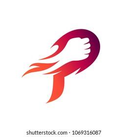 Punch Letter P Logo