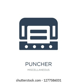 puncher icon vector on white background, puncher trendy filled icons from Miscellaneous collection, puncher vector illustration
