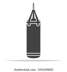 Punching bag icon vector isolated