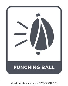 punching ball icon vector on white background, punching ball trendy filled icons from Gym equipment collection, punching ball simple element illustration