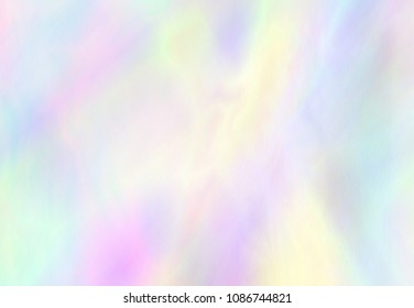 Punchy pastel trendy background. Magic wallpaper. Holographic Foil. Fantasy retro 80s, 90s. Very beautiful iridescent wall. Rainbow texture.