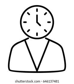 Punctual Line Vector Icon