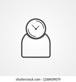 Punctuality vector icon sign symbol