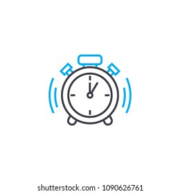 Punctuality vector thin line stroke icon. Punctuality outline illustration, linear sign, symbol concept.