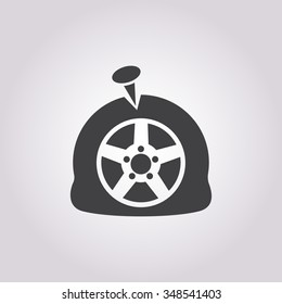 Puncture  Icon Vector.