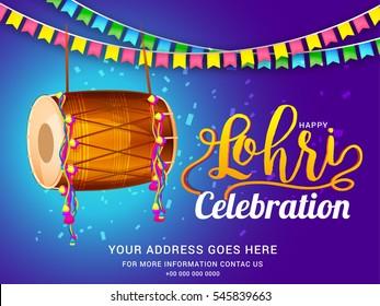 Punjabi culture images stock photos vectors shutterstock punjabi festival of lohri celebration background with decorated drum malvernweather Images