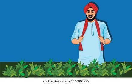 Punjabi Sikh Farmer in the farm