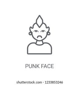 56268a2907323 Punk face icon. Trendy Punk face logo concept on white background from  People collection.