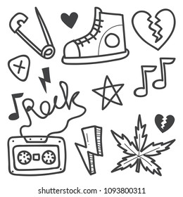 Punk rock doodle illustration series.